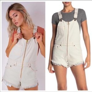 Free People Sunkissed Shortall Off White Size 6